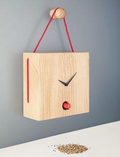 """Toiture"" for Diamantini & Domeniconi - david/nicolas 3d Wall Clock, Wall Clock Wooden, Wall Clock Design, Clock Art, Diy Clock, Wood Clocks, Wood Wall, Wall Watch, Wood Crafts"