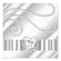 Personalised Bling Birthday Invitations You Print Bling and