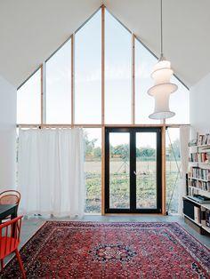 IST-Family House - JRKVC - Slovakia - Small House - Interior Glazed End Wall - Humble Homes