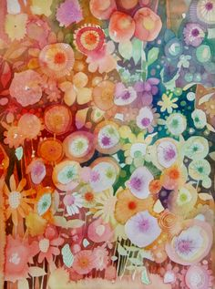 Flores locas (www.kiramamontova.com.ar) Watercolors, Paintings, Art, Water Colors, Flowers, Art Background, Paint, Painting Art, Kunst