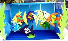 bastelsachen/basteln-kleines-Aquarium-Fische1