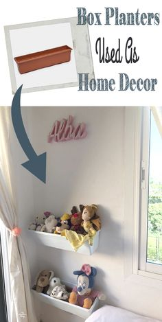 How to use plastic flower box planters as home decor · Via www.sweethings.net