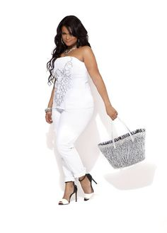 f6221d912a5 All white outfit - Ashley Stewart