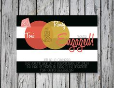 Bubbly Engagement Party Invitation / DIY by RejoiceGraphics