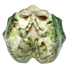 19th Century Art Nouveau Frog Vase by Edmond Lachenal | From a unique collection of antique and modern vases and vessels at https://www.1stdibs.com/furniture/decorative-objects/vases-vessels/