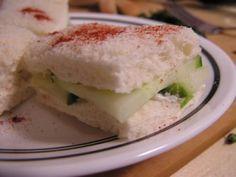 I love cucumber sandwiches!