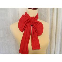 Women's RED Neck Bow, Bow Tie, Belt, Sash, Scarflett - Handmade Fall... ($12) ❤ liked on Polyvore featuring accessories, belts, evening belts, wide belt, wide sash belt, red turbans and red belt