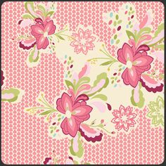 Manufacturer: Art Gallery (LB-2102)  Designer: Bari J. Ackerman  Collection: Lilly Belle  Print Name: Flowerpop Zesty in Sweet