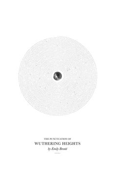 Between the words: Wuthering Heights - Poster with only the punctuation used in the book.