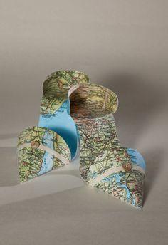 Jennifer Collier -more paper shoe art Toilet Paper Roll Crafts, Paper Crafts, Jennifer Collier, Textiles Sketchbook, Art Alevel, Paper Shoes, Creation Crafts, A Level Art, Map Design