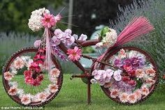 Image result for bicycle decorated with flowers