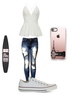 """""""To go out😘"""" by gisselleotero on Polyvore featuring Converse, Casetify and Maybelline"""