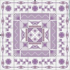 Cross-stitch Purple Biscornu, part 2 ... no color chart available, just use pattern chart as your color guide.. or choose your own colors... Gallery.ru / Foto # 1 - 228 - monfran