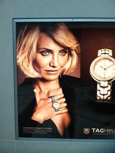 Worst picture of Cameron Diaz ever? From TAG Heuer.