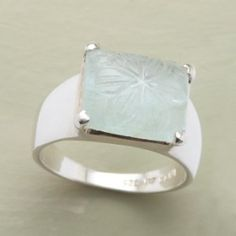 CARVED AQUAMARINE RING review at Kaboodle
