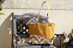 Sac cabas Samba jaune cousu par Maryse - Patron sac de plage Sacôtin