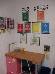 Classroom decor--Art center and behavior reflection area
