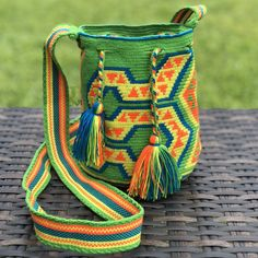 PREMIUM Mini Croche t Bag - Authentic One-thread Wayuu Bag - Style MWPP14 Fashion Bags, Boho Fashion, T Bag, Tapestry Bag, Thread Crochet, Hand Weaving, Baskets, Kit, Wallet