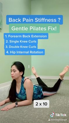 Fitness Workout For Women, Yoga Fitness, Gym Workouts, At Home Workouts, Yoga Pilates, Pilates Workout Videos, Lower Back Pain Exercises, Pilates For Beginners, Flexibility Workout