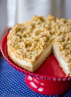 Rezept für Vanille-Cheesecake mit Apfel-Streuseln, abgewandelt nach einem Rezept aus der Lecker Bakery
