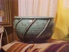 Turquoise planter- Jo Wray's Antiques, 3355 Hwy 82 East, Kilmichael, MS Open Sat. 10:00 - 5:00