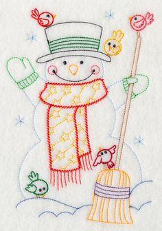 Snowman and Birds (Vintage)