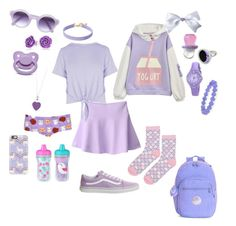Purple secret little Kids Outfits Girls, Little Girl Outfits, Cute Girl Outfits, Girls Fashion Clothes, Cute Outfits For Kids, Fashion Outfits, Kawaii Fashion, Cute Fashion, Look Fashion