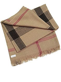 "Lightweight Classic Camel Burber Moda Plaid Scarf Shawl Pashmina - Shipping Included. Soft, sheer, lightweight, designer inspired classic plaid in camel tan brown. Popular plaid design Scarf measures approx 76"" inches long x 37"" inches wide. For work or weekend wear. Sophisticated office accessory, sporty weekend wear, perfect for all seasons. Makes a a great gift and ideal for travel. Orders placed Mon - Fri by 4pm (eastern) usually ship out on the same day."