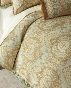 Shop Queen Louise Duvet Cover from Dian Austin Couture Home at Horchow, where you'll find new lower shipping on hundreds of home furnishings and gifts. King Duvet Cover Sets, Queen Comforter Sets, Queen Duvet, Luxury Duvet Covers, Luxury Bedding Sets, Modern Bedding, Duvet Cover Design, Bed Design, Pottery Barn Teen Bedding