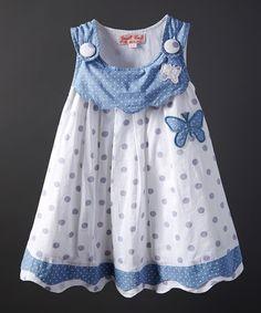 Love this Honey Blue Butterfly Jumper - Infant, Toddler & Girls on #zulily! #zulilyfinds