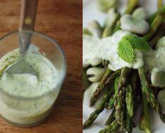 Honestcooking.it - asparagi con insalata di fave e fagioli e salsa di menta