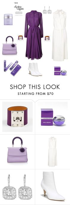 """""""ultra violet"""" by fixedpixie ❤ liked on Polyvore featuring Hermès, Paco Rabanne, Christian Dior, Rosetta Getty, Avon, Carlos by Carlos Santana, Kate Somerville, kittenheels, longvest and Whiteboots"""