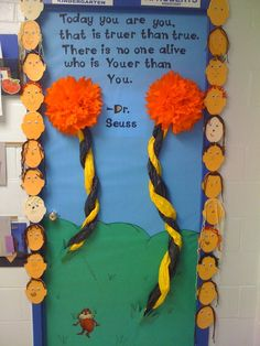 March/Dr. Seuss Door!  Makes me want to do a decorate a door contest next year:)