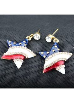Star Shape Design Rhinestone Decorated Metal Earrings on sale only US$6.18 now, buy cheap Star Shape Design Rhinestone Decorated Metal Earrings at liligal.com