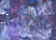 Original Painting  5 x 7  Abstract  Purple Red Black by AidforAbby