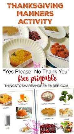 Yes Please No Thank You Thanksgiving Manners For Kids
