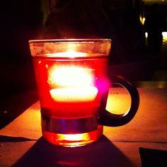 Un té en llamas.