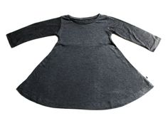 Long Sleeved Mila Dress - Heathered Charcoal - Little & Lively - 1