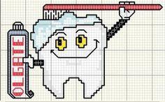 Artes da Nique: Ponto cruz gráfico Dentes