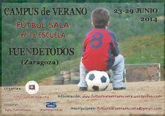 """Cartel Campus de Verano 2014 """"Fútbol Sala en la Escuela"""""""