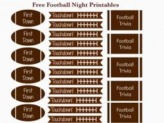 Free Football Date Night or Party Printables #KYDateNight #shop #cbias #date #party #football #freeprintable Football Trivia, Football Crafts, Football Tailgate, Free Football, Football Themes, Football Season, Football Food, Football Decor, Football Parties
