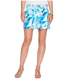 Women's Clothing Lilly Pulitzer Skort Sz 0 Pink Floral Marigold Swept By The Tides Skirt Shorts In Many Styles