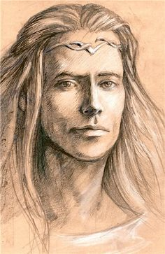 'Finrod was like his father in his fair face and golden hair, and also in noble and generous heart, though he had the high courage of the Noldor and in his youth their eagerness and unrest; and had also from his Telerin mother a love of the sea and dreams of far lands that he had never seen.' - History of Galadriel and Celeborn, Unfinished Tales.  by Catherine Chmiel