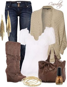 """Dolce & Gabbana, Wedged Boots, & Cardigan"" by casuality on Polyvore"