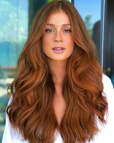 Red and Strawberry Blonde Bob - 60 Trendiest Strawberry Blonde Hair Ideas for 2019 - The Trending Hairstyle Hair Color Auburn, Red Hair Color, Long Auburn Hair, Light Auburn Hair, Ginger Hair Color, Strawberry Blonde Hair, Balayage Hair, Hair Looks, Dyed Hair