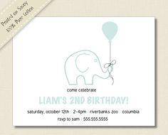 Kids BIRTHDAY PARTY INVITATIONS bluishgreen and by TutuRevue, $21.70