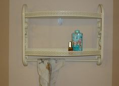 vintage metal bathroom shelf kitchen shelf accent shelf by citycottage sold