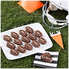 Chocolate Peanut Butter Football Cookies at Big Lots.