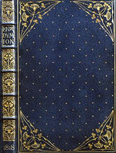 Detail of Front of Endymion by Keats, bound by Doves bindery 1818.