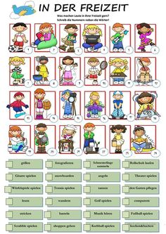 Hobbies With Animals Product German Grammar, German Words, German Resources, English Exercises, German Language Learning, World Languages, Vocabulary Games, Simple Quotes, Learn German